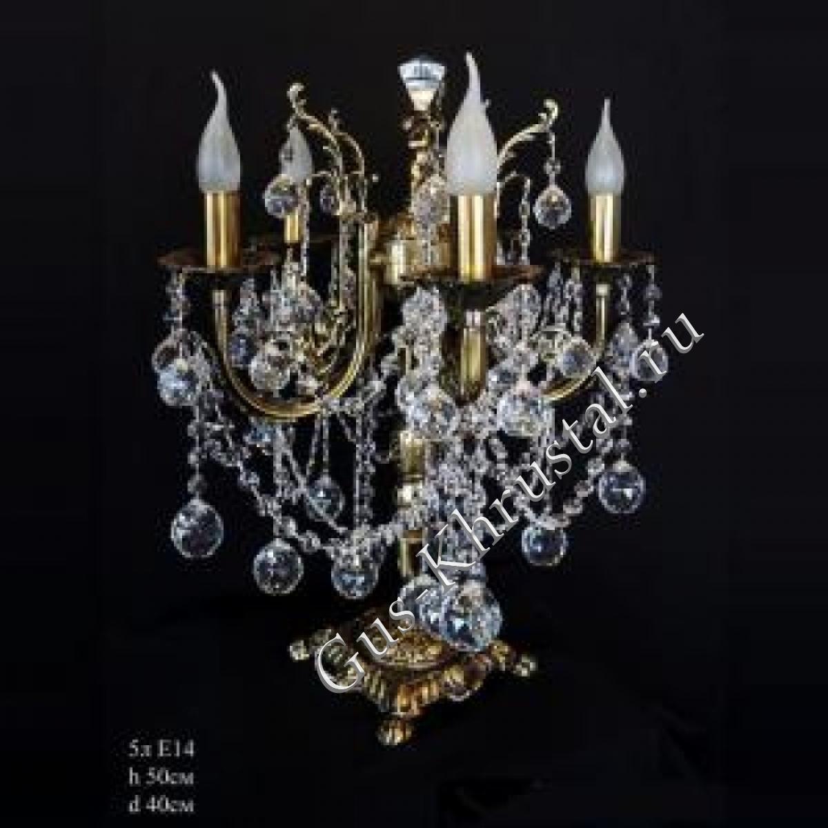Настольная лампа бронзовая (5 ламп)